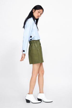 Zara Spódnica mini ze sztucznej skóry