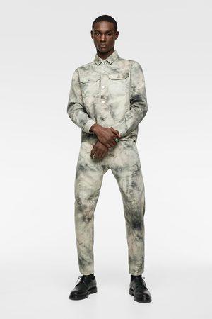 Zara Kurtka jeansowa farbowana metodą tie & dye