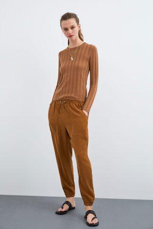 Zara Spodnie z kieszeniami
