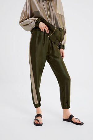 Zara Wielobarwne spodnie joggery