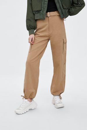 Zara Szerokie spodnie typu cargo