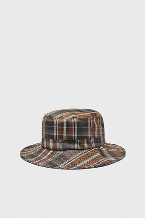 Zara Miękki kapelusz w kratę