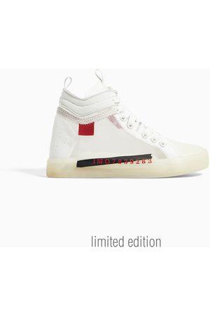 Zara Translucent high-top sneakers