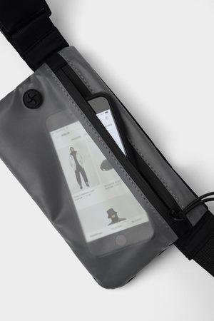 Zara Torebka typu nerka w stylu sportowym z przezroczystą dotykową wstawką