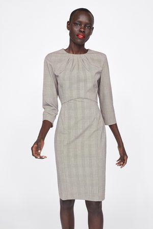 Zara Sukienka o kroju ołówkowym w kratę