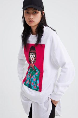Zara Bluza z nadrukiem postaci dziewczęcej