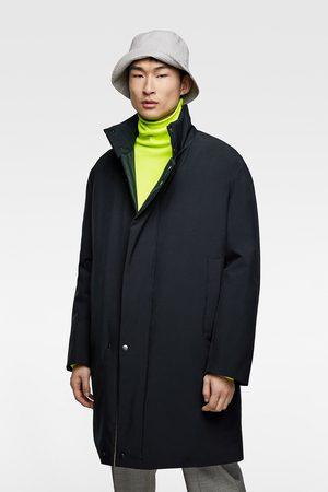 Zara Płaszcz na ocieplanej podszewce