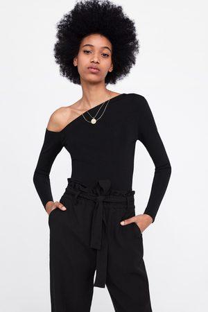Zara Spodnie typu paperbag