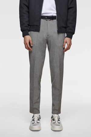 Zara Spodnie z elastycznej tkaniny strukturalnej