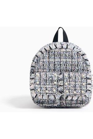Zara Tweedowy mini plecak