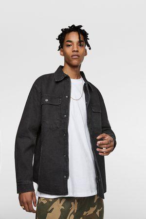 Zara Kurtka jeansowa z nadrukiem