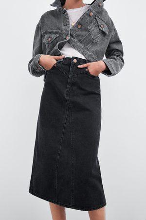 Zara Spódnica jeansowa średniej długości