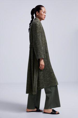 Zara Płaszcz z fantazyjnej tkaniny