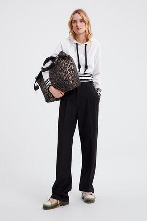 Zara Dzianinowa bluza z kapturem