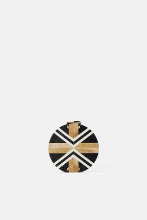Zara Drewniana torebka listonoszka