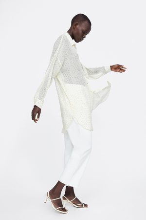 Zara Długa koszula w kropki