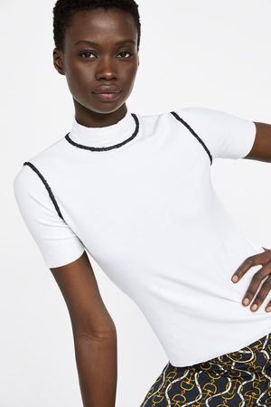 Zara T-shirt with contrast topstitching