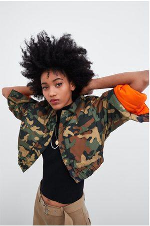 Zara Camouflage cropped jacket