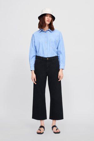 Zara Spodnie jeansowe typu basic z kolekcji z1975