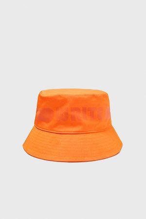 Zara Slogan bucket hat