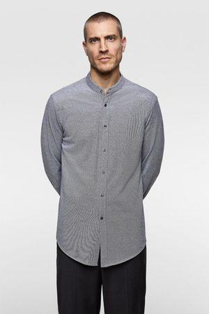 Zara Koszula z tkaniny strukturalnej typu pika