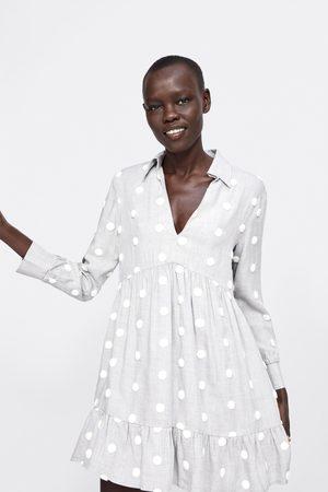 Zara Sukienka w kontrastowe kropki