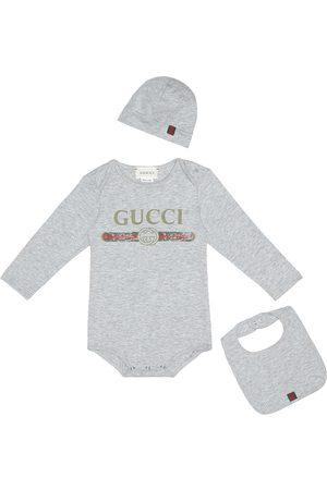 Gucci Cotton onesie, bib and hat set