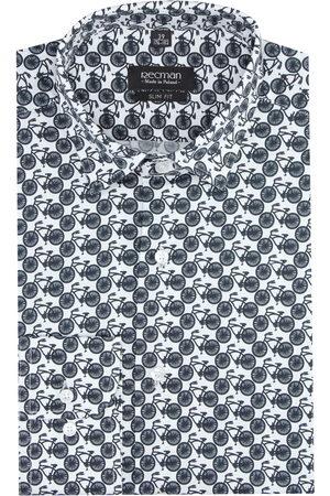Recman Koszula versone 2881 długi rękaw slim fit granatowy