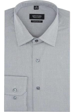 Recman Mężczyzna Z długim rękawem - Koszula versone 2821 długi rękaw custom fit brąz