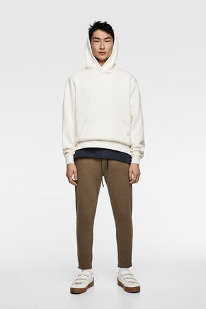 Zara Spodnie joggery z kolekcji premium