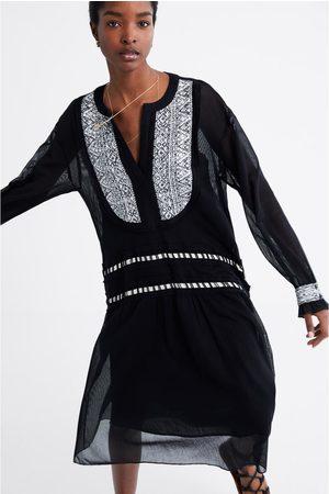 Zara Sukienka z łączonych tkanin