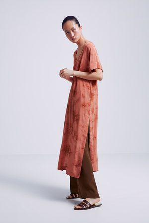 Zara Tunika farbowana metodą tie & dye