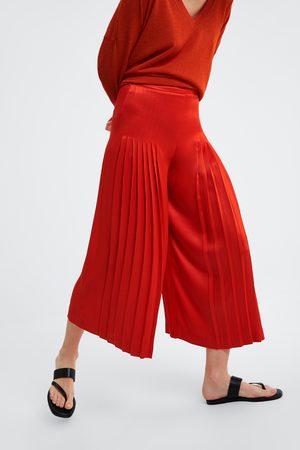 Zara Spodnie typu culotte z zakładkami