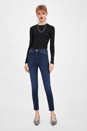 Zara Spodnie jeansowe z bardzo wysokim stanem typu sculpt