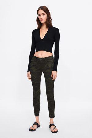 Zara Spodnie jeansowe rurki w moro z kolekcji z1975
