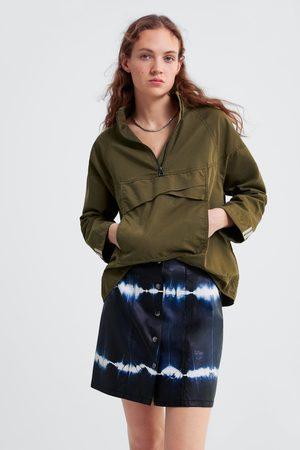 Zara Spódnica mini farbowana metodą tie & dye