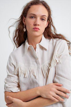 Zara Koszula z frędzlami