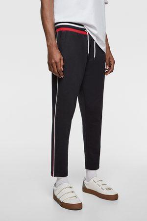 Zara Spodnie joggery z lampasami