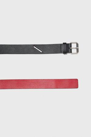 Zara Two-tone leather belt