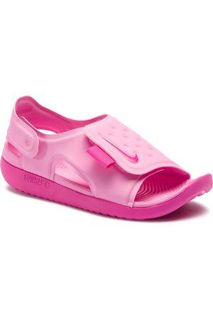 Nike Sandały - Sunray Adjust 5 (GS/PS) AJ9076 601 Psychic Pink/Laser Fuchsia