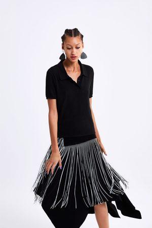 Zara Kobieta Z krótkim rękawem - Koszulka polo z przyjemnej w dotyku tkaniny
