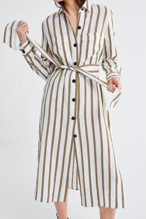 Zara Tunika w paski z kieszeniami