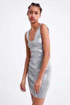 Zara Sukienka mini z tkaniny z połyskiem