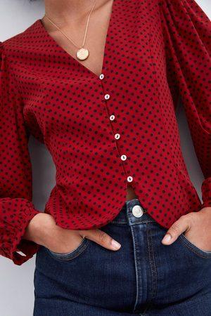 Zara Koszula z nadrukiem w kropki