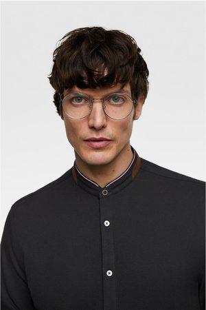 Zara Koszula z piki z łatami na łokciach