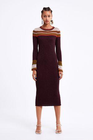 Zara Długa sukienka z błyszczącymi akcentami