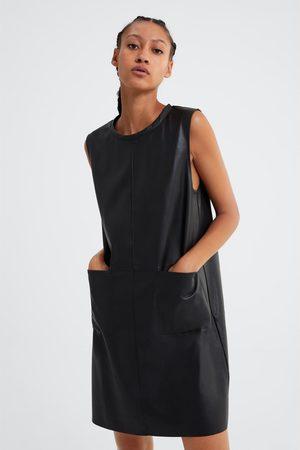 Zara Sukienka ze sztucznej skóry