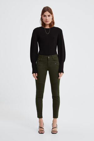 Zara Spodnie jeansowe rurki z suwakami z kolekcji z1975