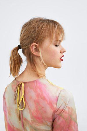Zara Top o krótszym kroju farbowany metodą tie dye