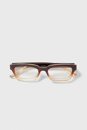 Zara Okulary w oprawce z tworzywa z ozdobnym cieniowaniem